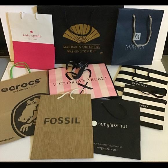 Designer shopping bag bundle various stores/prices